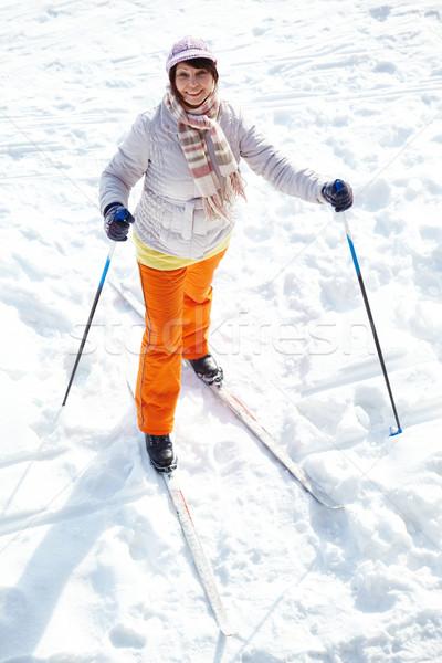 Esqui feminino retrato atraente olhando Foto stock © pressmaster