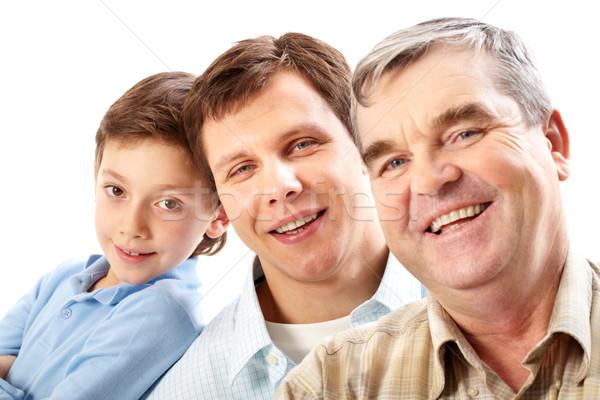 Zdjęcia stock: Mężczyzna · pokolenie · portret · ojciec · dziadek · syn