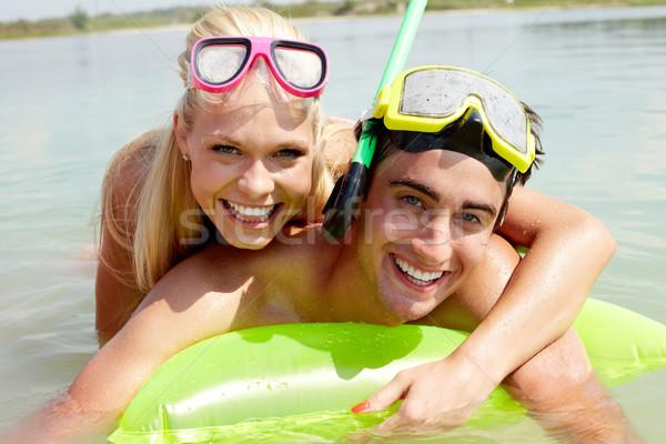 Couple in water Stock photo © pressmaster