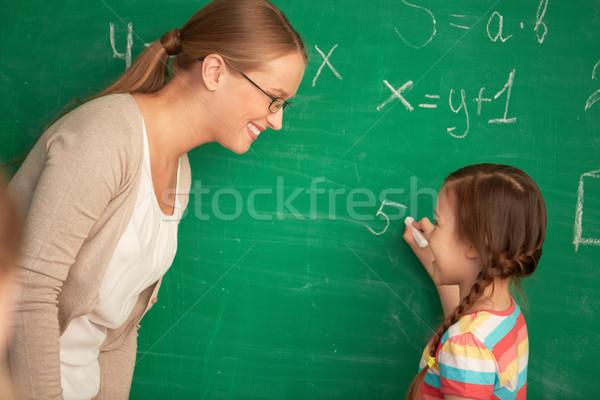 Equação retrato inteligente professor aluna em pé Foto stock © pressmaster