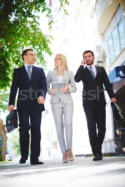 Teilung Erfahrung reifen Geschäftsmann ein Kollegen Stock foto © pressmaster