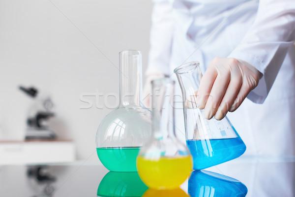 Сток-фото: химического · изображение · стекла · один · химик · лаборатория