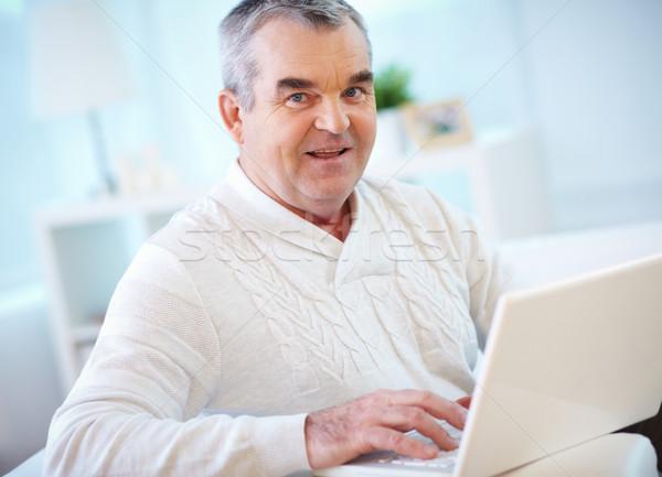 Man with laptop Stock photo © pressmaster