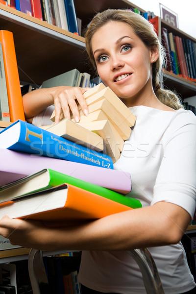Intelligente Studenten Porträt smart Mädchen stehen Stock foto © pressmaster