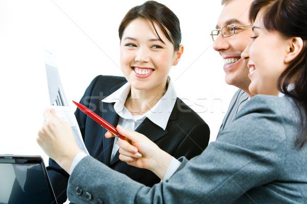 Sharing working ideas Stock photo © pressmaster