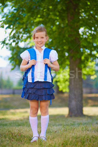Schoolchild with rucksack Stock photo © pressmaster