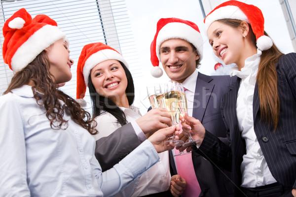 Christmas obraz znajomych Święty mikołaj Zdjęcia stock © pressmaster