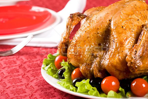 Stock fotó: Karácsonyi · étel · kép · pörkölt · Törökország · ünnepi · asztal