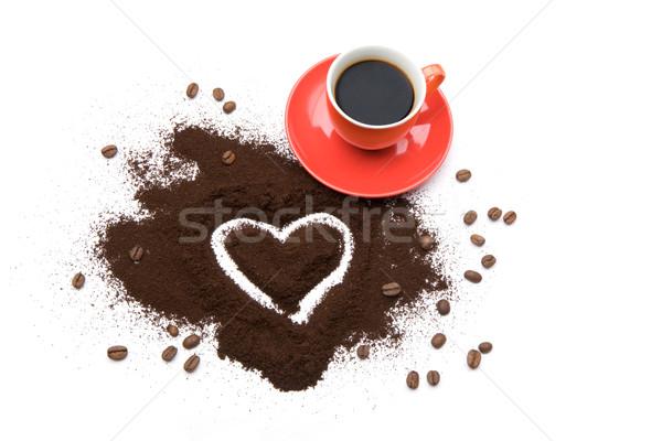 íz szeretet fotó csésze kávé forma Stock fotó © pressmaster
