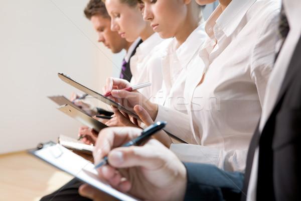 Сток-фото: семинара · деловые · люди · Дать · лекция · женщину