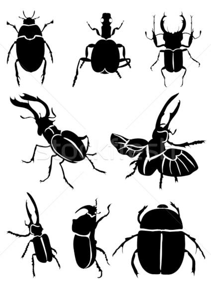 Zwarte ontwerp kleur tekening grafische antenne Stockfoto © pressmaster