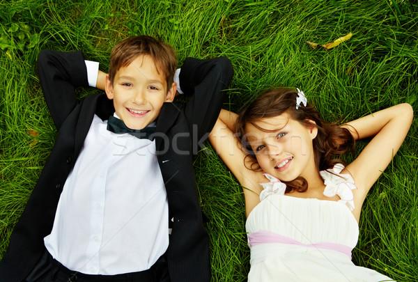 Glücklich Kinder Porträt lächelnd Kinder Braut Stock foto © pressmaster