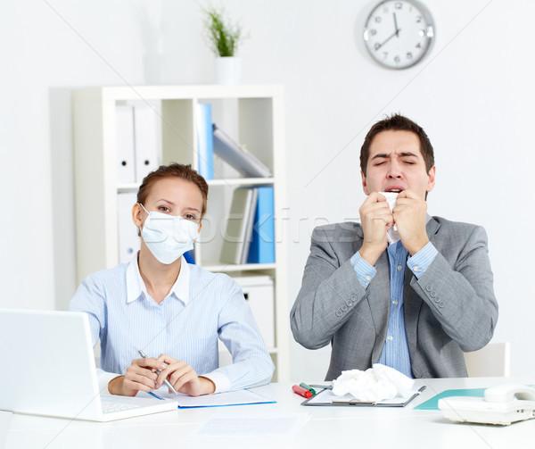 Working during epidemy Stock photo © pressmaster