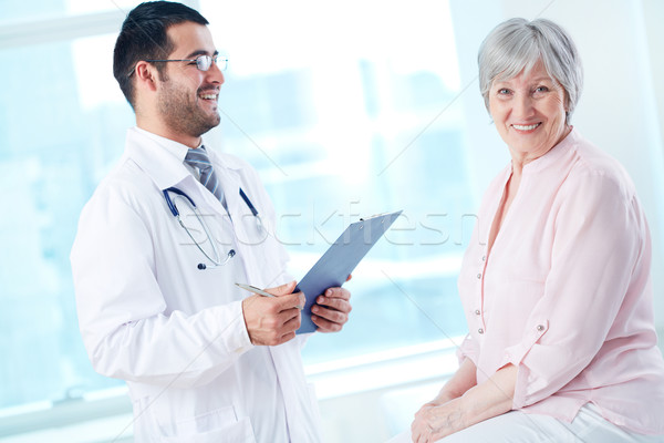 Happy patient in hospital Stock photo © pressmaster