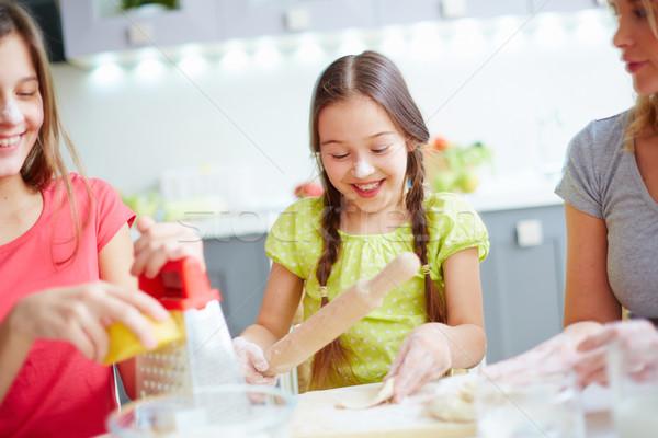 Industrious girl Stock photo © pressmaster