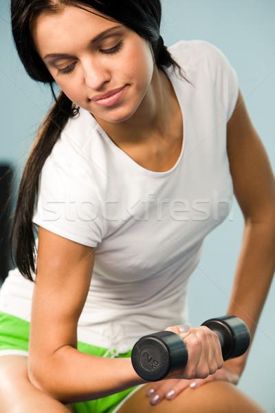 Pumping biceps Stock photo © pressmaster