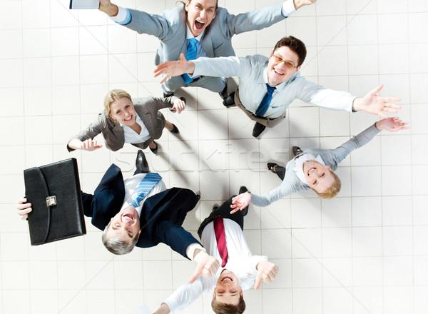 Wesoły partnerów powyżej widoku kilka udany Zdjęcia stock © pressmaster