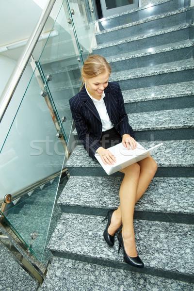 Female typing Stock photo © pressmaster