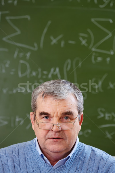 Senior teacher Stock photo © pressmaster