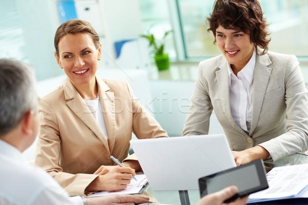 Colleagues listening Stock photo © pressmaster