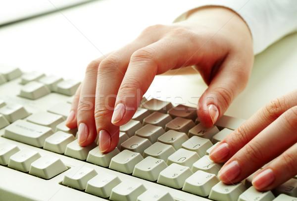 набрав работу женщины рук прикасаться Сток-фото © pressmaster