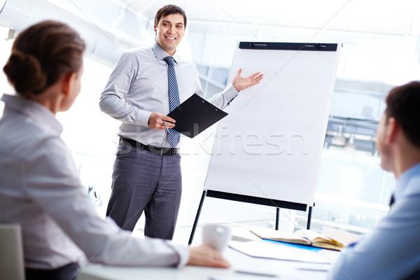 Cheerful presenter Stock photo © pressmaster