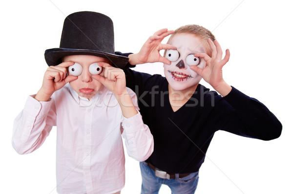 Effrayant photo deux garçons Photo stock © pressmaster
