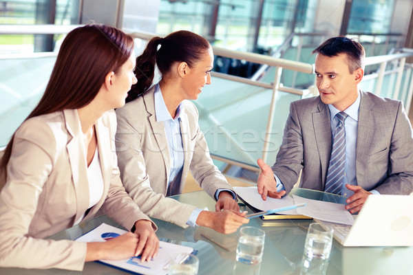 Listening to boss Stock photo © pressmaster