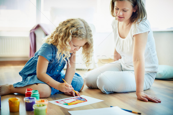 Stock photo: Painting together