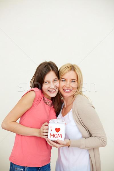 Genegenheid tienermeisje moeder klein aanwezig naar Stockfoto © pressmaster
