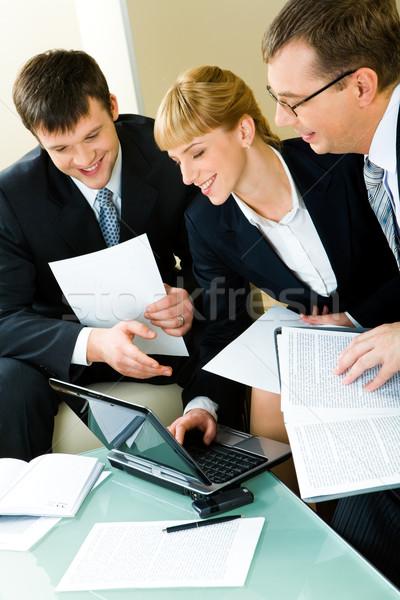 Drie mensen werken portret drie zakenlieden Stockfoto © pressmaster