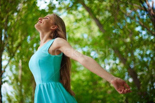 życia Fotografia happy girl przyjemność Zdjęcia stock © pressmaster