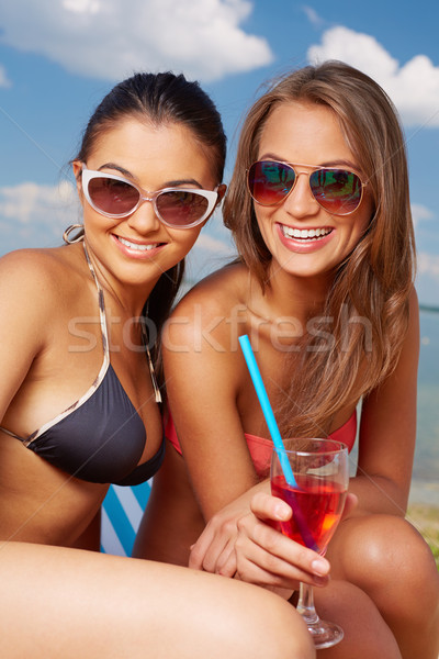 Cute sunbathers Stock photo © pressmaster