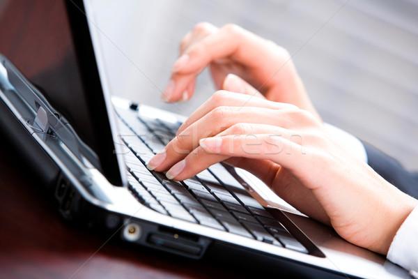 современных связи изображение человека пальцы Сток-фото © pressmaster