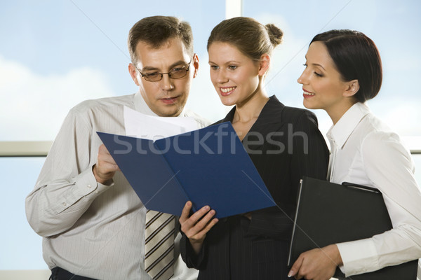 Checking documents Stock photo © pressmaster