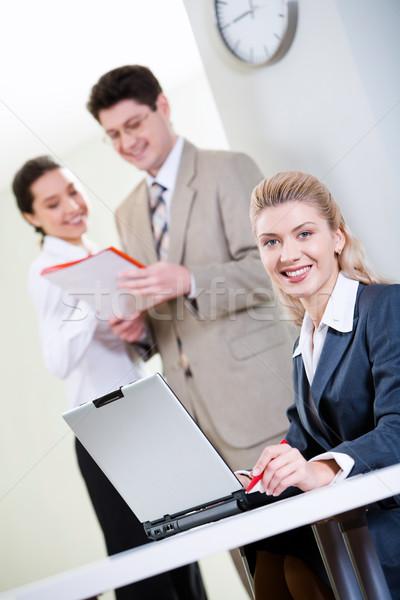 Confident receptionist  Stock photo © pressmaster