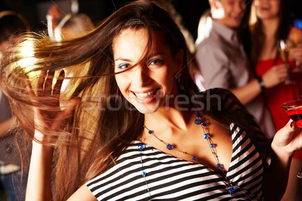 Dynamisme portret vrolijk meisje dansen partij Stockfoto © pressmaster