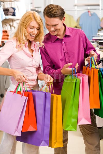 Birlikte alışveriş görüntü kadın adam Stok fotoğraf © pressmaster