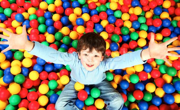 Stockfoto: Vreugde · gelukkig · jongen · kleurrijk