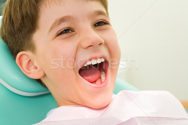 Enfant dentisterie photo bouche large Photo stock © pressmaster