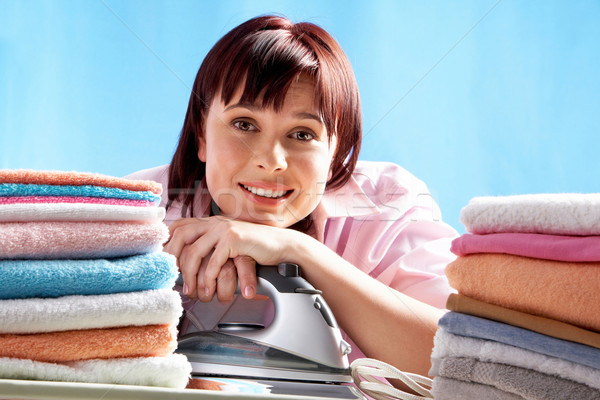 Cheerful housewife Stock photo © pressmaster