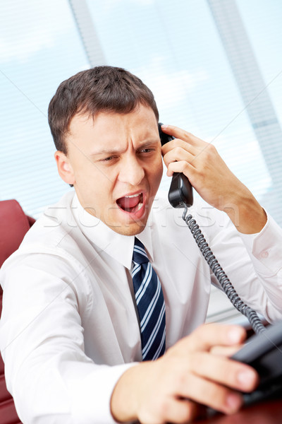 Сток-фото: Boss · менеджера · сидят · таблице