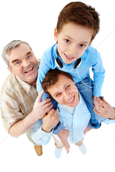 Son on shoulder  Stock photo © pressmaster