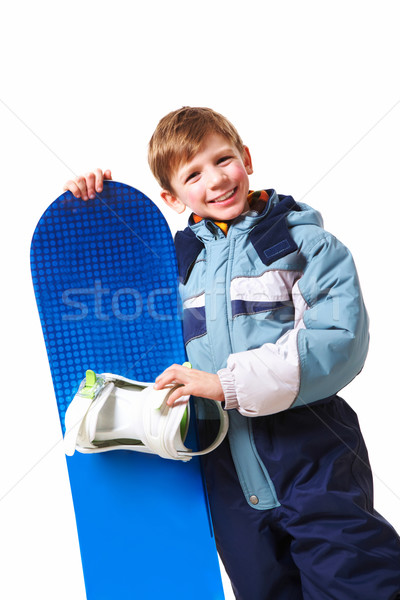 Сток-фото: молодой · скейтбордист · портрет · скейтборде · белый