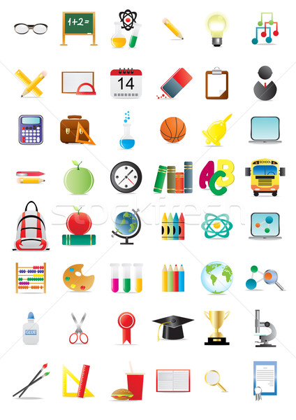 Stock photo: education icons