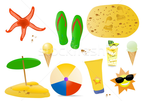 stock-vector-set-of-summer-elements Stock photo © pressmaster