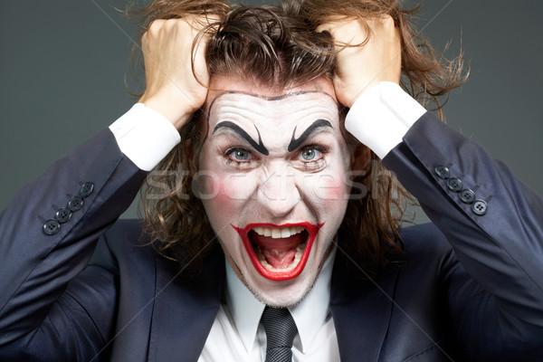 üzletember portré csalódott színpadi smink Stock fotó © pressmaster