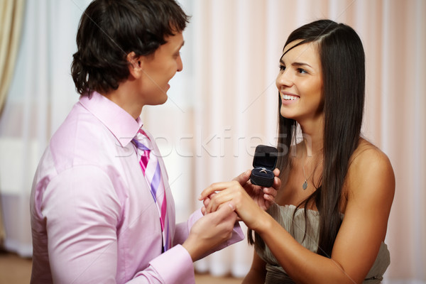 Offer of hand and heart Stock photo © pressmaster