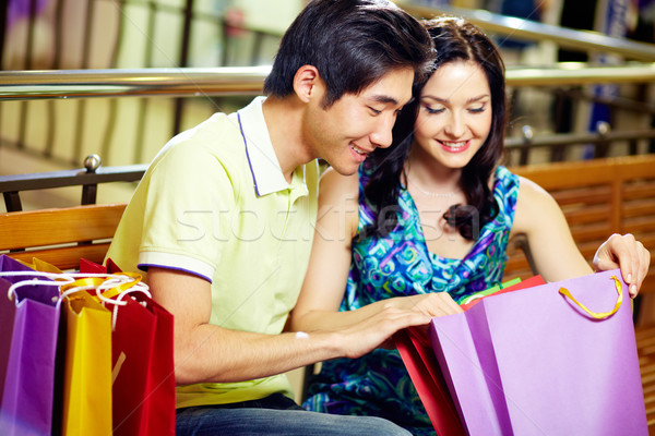 Stock photo: After shopping