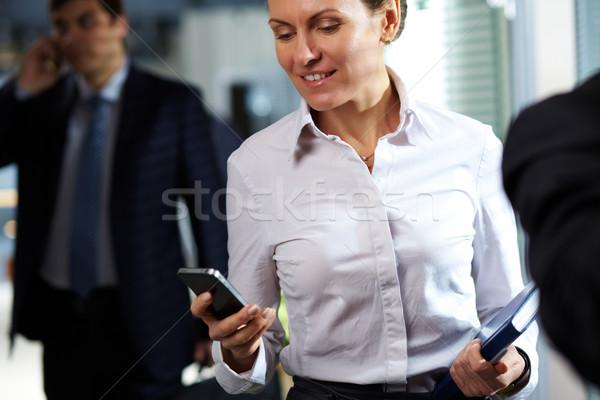 Smiling business lady Stock photo © pressmaster
